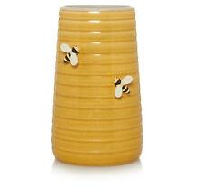 HONEY YELLOW BEE STONEWARE VASE 24CM