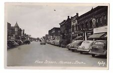Iowa real photo postcard Nevada main street ca 1953 Berka's Drugs Ice Cream