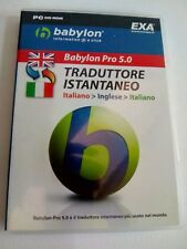 pc cd rom babylon pro 5.0 traduttore istantaneo italiano / inglese / italiano