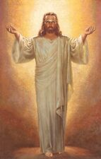 Warner Sallman IN HIS PRESENCE 20x16 Canvas Art Print Jesus Outstretched Hands