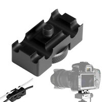 FJ- LX_ Aluminum Alloy Tether Holder Cable Lock Clip Clamp Adapter for DSLR Came