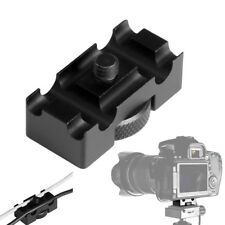 Aluminum Alloy Tether Holder Cable Lock Clip Clamp Adapter for DSLR Camera New