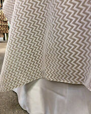 Burlap and Lace Chevron Table Topper 54 x 54 Inch Natural Jute