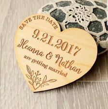 "Personalised Wedding ""Save the Date"" Fridge Magnets -  X 50pc"