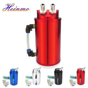 Universal Aluminum Cylinder Round Oil Catch Tank Can Reservoir Turbo Kit 750ml