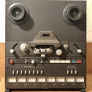 """serviced TASCAM 38 8-track 1/2"""" analog reel-to-reel recorder 15 ips"""