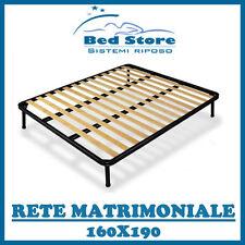 RETE A DOGHE STRETTE PER MATERASSO MATRIMONIALE 160X190 CON 4 PIEDI IN OFFERTA!!