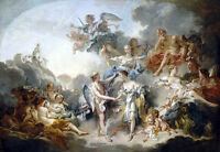Oil painting francois boucher Marriage and Love & angels in Heaven canvas 36""