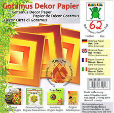 62 Sheets Gotamus Red / Yellow  15cm Origami / Craft Paper (Kusudama)