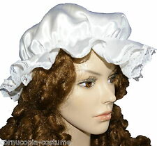 LADIES VICTORIAN / MEDIEVAL MOP CAP FANCY DRESS COSTUME