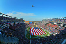Photo A C-5 Galaxy flies over Gillette Stadium atNew Englad Patriot's Game