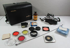 Vintage Minolta XG-1 Camera Flash Carrying Bag Shutter Cable Release + Extras
