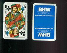 Alte Werbe Spielkarten BHW Bausparkasse für den öffentlichen Dienst