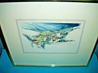 "Tripolis, Greece Art Print 1977 frame 12"" x 14"" home decor metal frame matted"