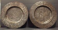 2 Handmade Recycled Haitian Steel Metal Decorative Plates