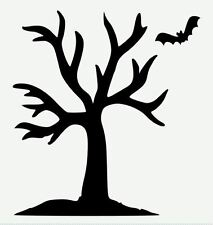 Stencil Halloween Tree Bat Spooky Crafts Make Signs Pillows