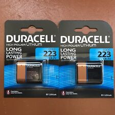 2 X Duracell 223 6 V lithium Ultra Photo Batterie CR223 CR-P2 EL223AP plus longue EXP