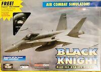 Air Combat Simulator F/A-18 Black Knight Marine Strike Fighter PC CD-ROM w/ VHS