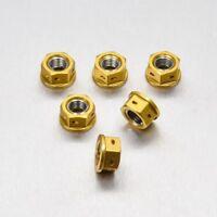 Pro-Bolt Alu Sprocket Nuts 1 x6 Drilled Gold Suz GSX-R1000 K5-K6 05-06 SPN10DG