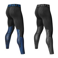 Boys Men's Compression Gym Sports Base Layer Bottoms Under Skins Thermal Tights