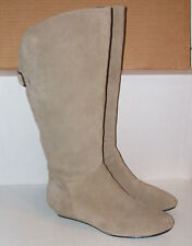 STEVE MADDEN Women's INKA-S Taupe Suede Leather Fashion Riding Wedge Boots 8.5