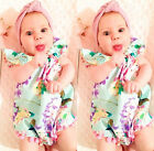 Newborn Toddler Baby Girl Floral Tassels Romper Jumpsuit Sunsuit Outfits Clothes
