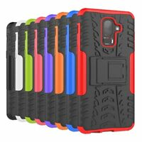 Shockproof Hybrid Armor Rugged Hard Stand Case Cover For Samsung Galaxy J8 2018