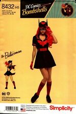 Simplicity Sewing Pattern 8432 Misses' Costumes DC Bombshells Batwoman 16-24 NEW