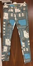 Versace Jeans Grey & Blue Baroque Print Trousers W34 RRP £300