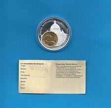 Médaille Vatican Cathédrale Saint-Pierre avec une monnaie de 200 Lire