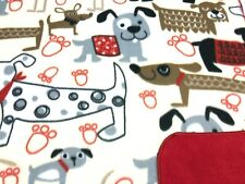 """Dog Blanket Dachshunds Chihuahuas Dogs Paw Prints Can Be Personalized 28x44"""""""