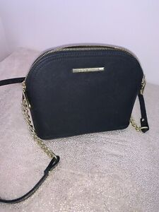 Steve Madden Black Dome Crossbody Chain Strap Bag