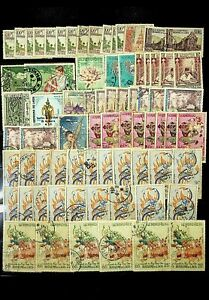 LAOS EARLY COLLECTION 73 STAMPS MH/GOOD USED UNCHECKED-N45816