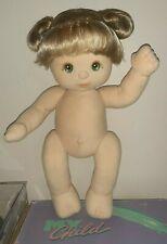 💕 My Child Doll 💕 Aussie Girl, Ash Double Ribbons, Green Eyes, Peach/Peach