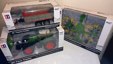 3 boxed rc farm tractor 1-16 with trailer, twin rotary set,collection last ones