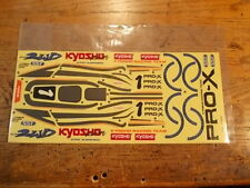 XR-27 Decal - Kyosho Pro-X Pro X Vintage 2WD Off Road Racing Buggy