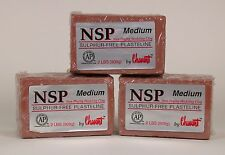 Chavant NSP Non-Drying Modeling Clay-3 pack - Medium - Brown -sculpting modeling