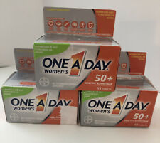 (3 Pack) One A Day Women's 50+ Multivitamin Tablets, 65ct each 07/21 & 03/21
