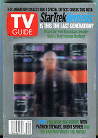 TV Guide Dec. 7-13 Star Trek Nemesis Cover #2 EX 010716jhe
