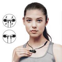 Sport auricolari magnetici senza fili stereo Bluetooth Con Mic In-Ear Cuffie