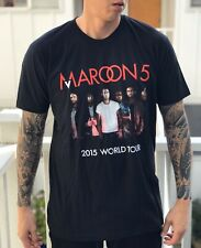 Maroon 5 2015 World Tour T Shirt Graphic Tee Size Xl Made in Usa Black