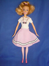 Bend Leg Barbie Doll ~ Blonde with Pink Legs ~ Pretty  Retro Style Outfit