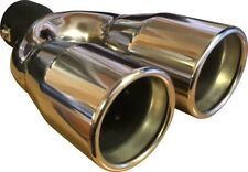 "9.5"" Universal Stainless Steel Exhaust Twin Tip Nissan Qashqai 2007-2016"