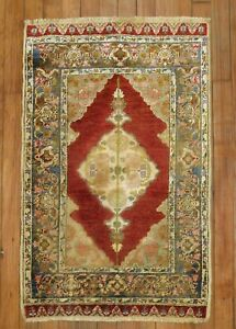 Antique Turkish Keyseri Silk Rug Size 1'10''x2'11''