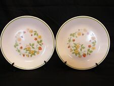 "Pair of 8.5"" Corelle Corningware Luncheon Plates STRAWBERRY SUNDAE Pattern"