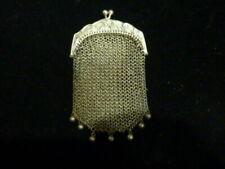 Ancien porte monnaie en argent massif art nouveau