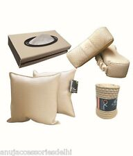 Car Neck Rest,Cushion Rest,Steering Cover,Tissue Combo-Beige-Hyundai Santro