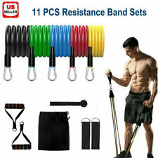 2020 Upgrade - Heavy Resistance Bands Set Door Ankle Straps At Home Workout Gym