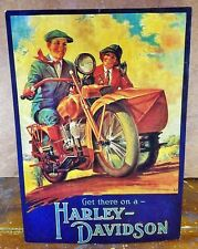 Get There on a Harley Davidson Man on Motorcycle Woman in Side Car Counter Sign