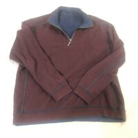 Tommy Bahama Reversible 1/4 Zip Pullover Cotton Men's Size XL Sweater